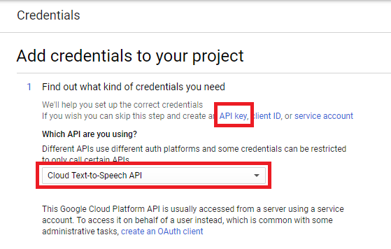 Choose API